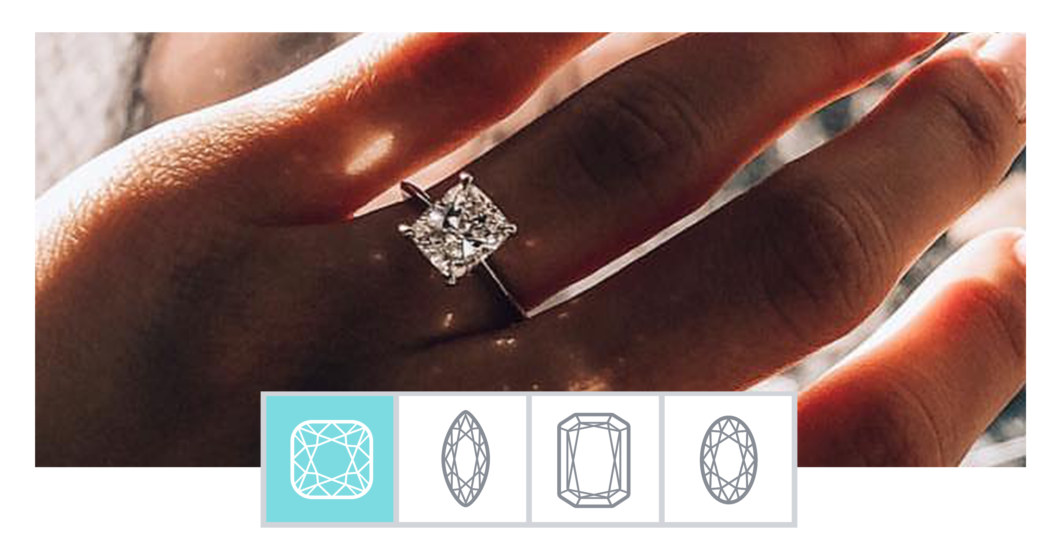 Engagement Ring Photos On Hands With Carat Size Amp More