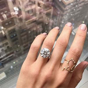 Wedding Ring On Which Hand.Engagement Ring Photos On Hands With Carat Size More