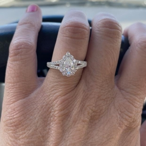 Engagement Ring Photos On Hands With Carat Size More
